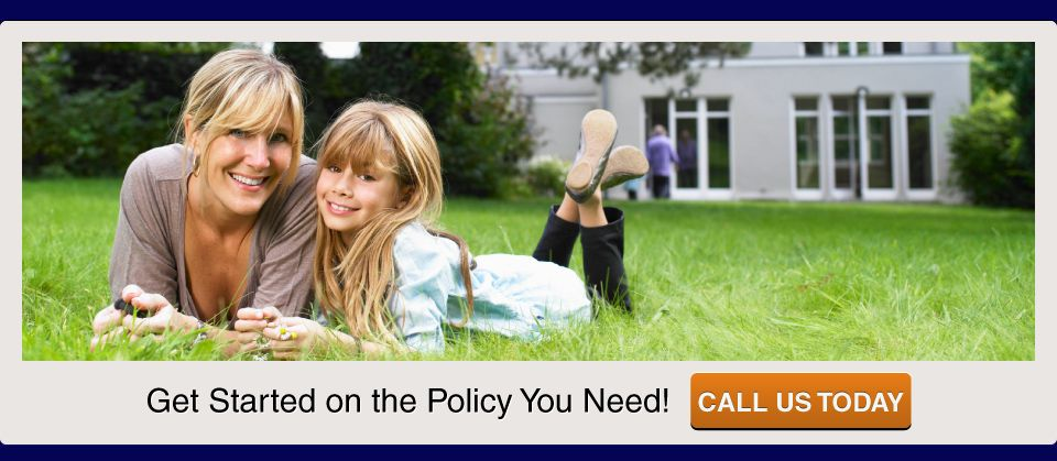 Get Started on the Policy You Need! Call us today; Mother and daughter laying in grass
